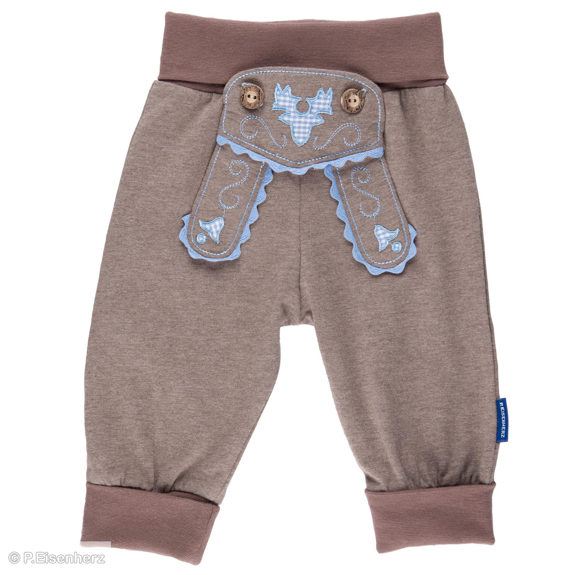 BLAU, P.Eisenherz Baby Jungen Babym/ütze mit Breze blau