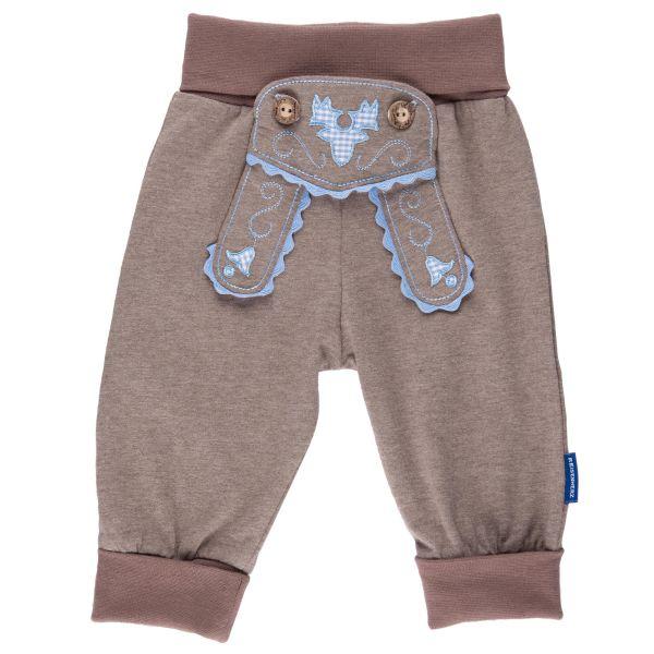 buy popular 8f503 f9032 Babyhose im Lederhosenstil mit Stickerei in hellblau