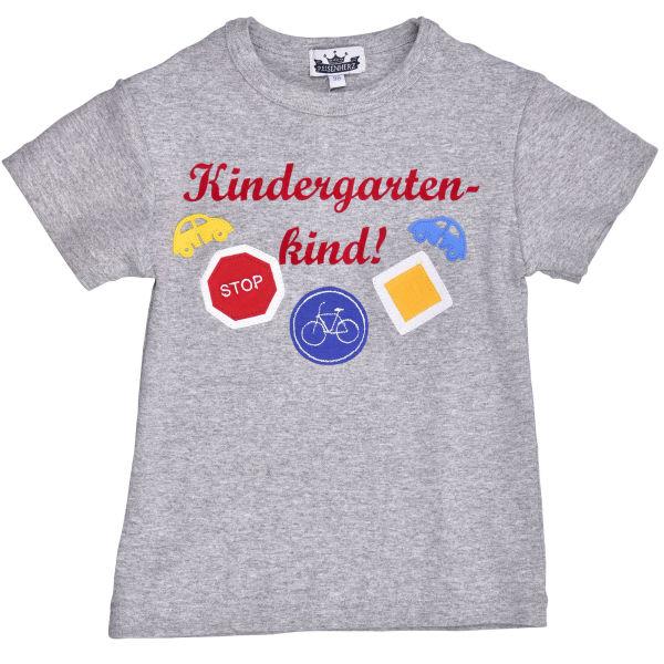 T-Shirt Kindergartenkind mit Verkehrszeichen grau