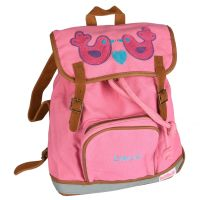 Mini-Backpack Birds rosa/personalisiert