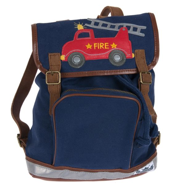 Mini-Backpack Motiv Fire engine marine